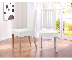 Uvanlig Stoltrekk spisestuestoler stretch løse trekk til spisestoler hvitt VA-03