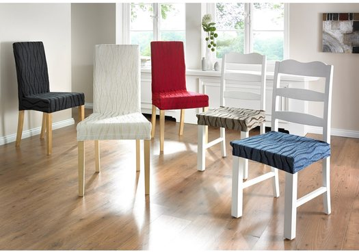 Uvanlig Stoltrekk spisestuestoler stretch løse trekk til spisestoler hvitt GY-41